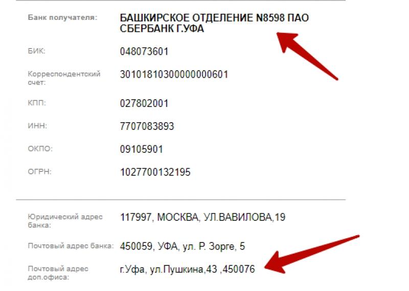 Определения отделения Сбербанка по номеру карты 3