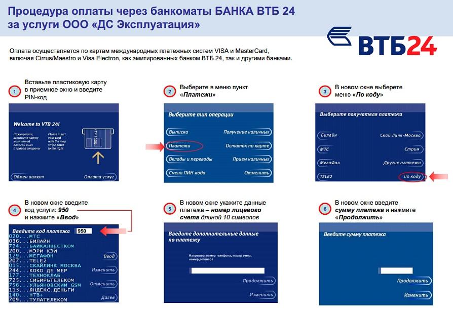 Как перевести деньги на карту ВТБ 24 с МТС, Билайн, Теле 2, с карты Сбербанка 1