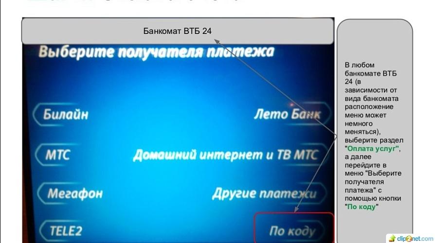 Перевод денежных средств с карты ВТБ на номер мобильного телефона 5