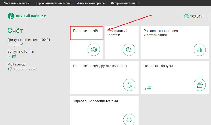 Оплата сотовой связи оператора Мегафон при помощи пластиковой карты от Сбербанка 2